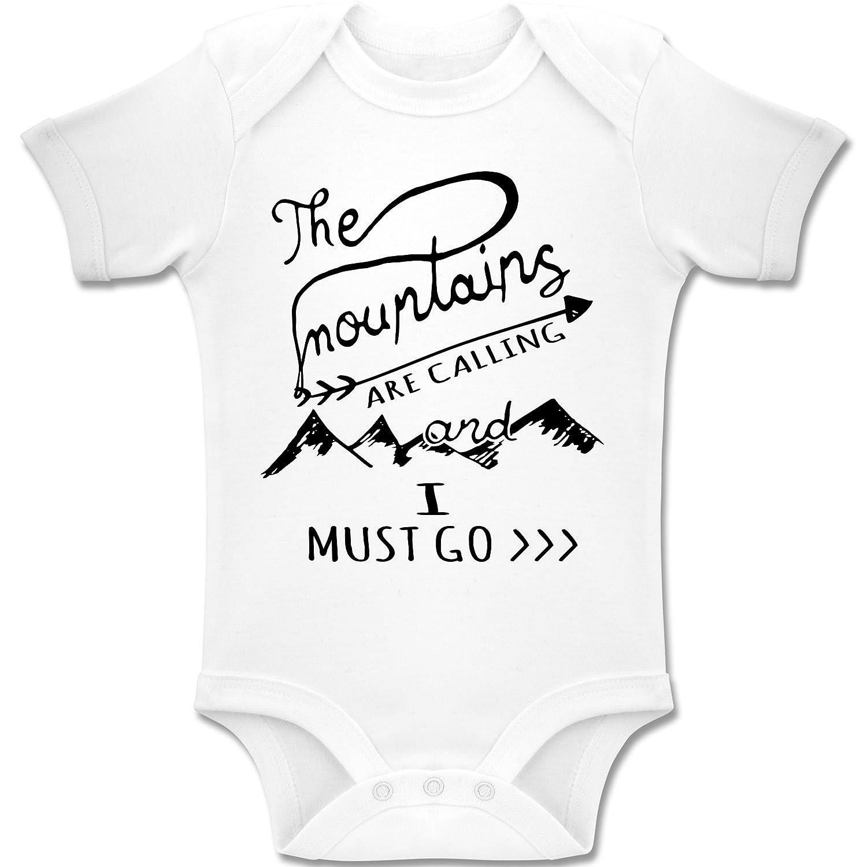 Up to Date Baby - The Mountains are calling - Kurzarm Baby-Strampler / Body für Jungen und Mädchen
