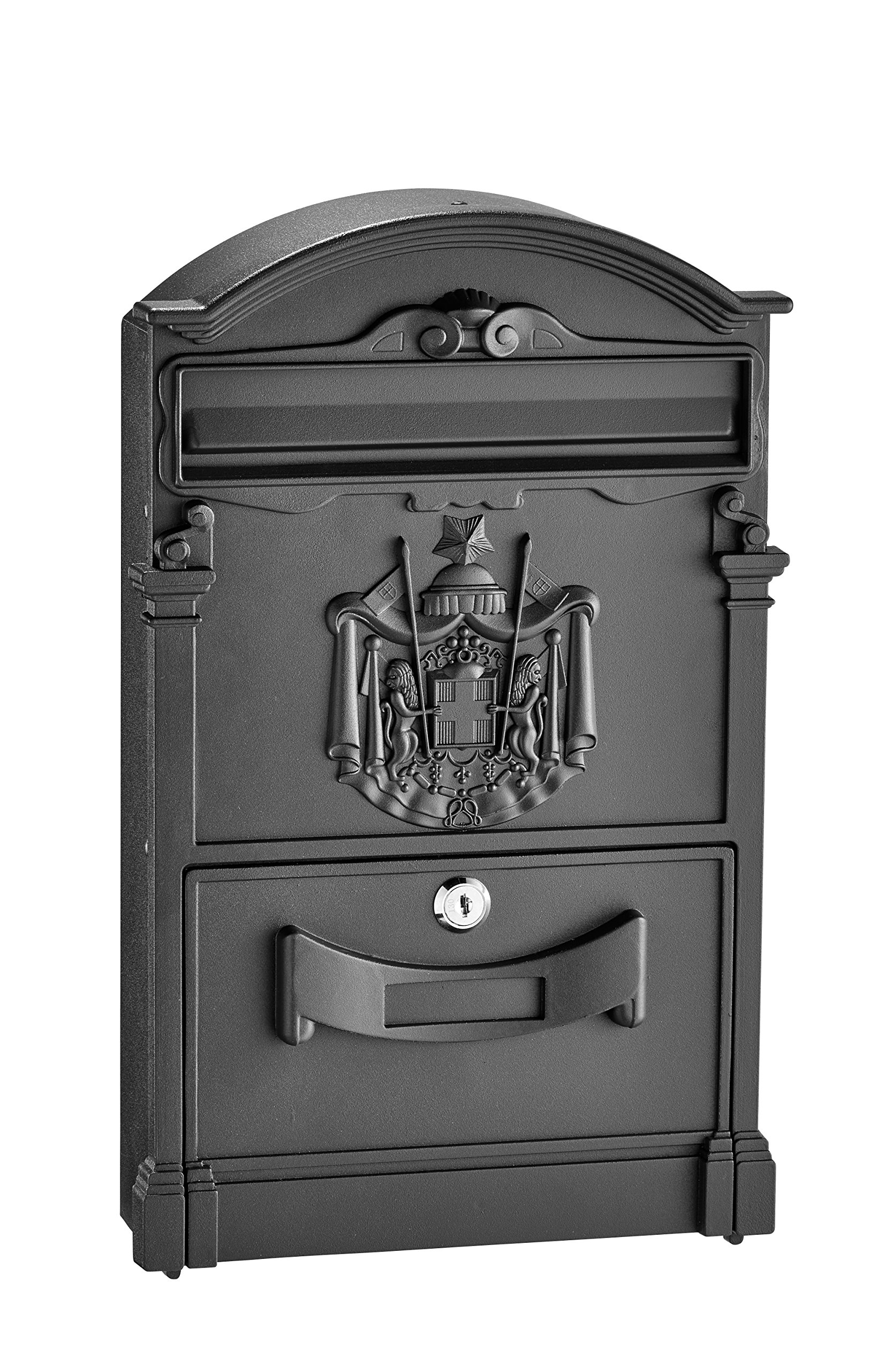 AdirHome Black Steel Old Europe Mailbox
