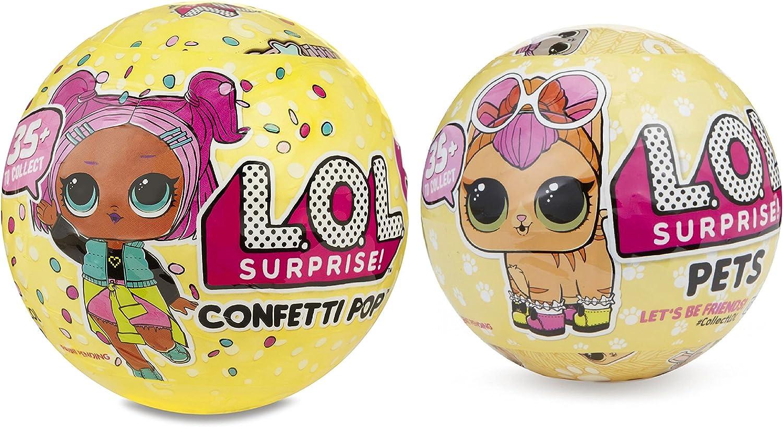 Amazon.es: L.O.L. Surprise! Confetti Pop-Series 3-Wave 1 Unwrapping Toy Bundle with Pets Series 3: Juguetes y juegos