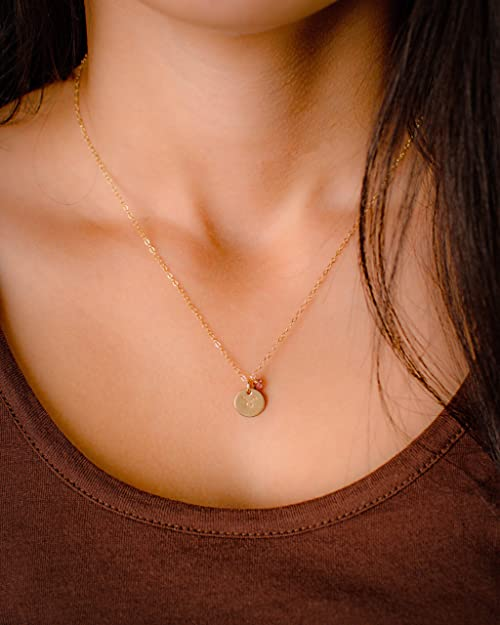 bc2140f7c95d7b Amazon.com: EFYTAL Taurus Necklace - Tiny Gold Filled Simple Taurus Necklace  with Birth Month Charm, Zodiac Pendant: Chain Necklaces: Jewelry