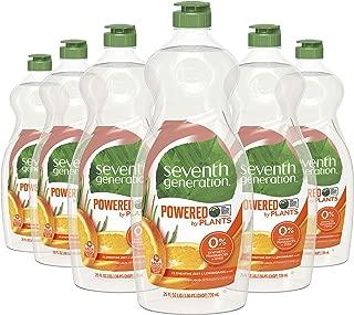 product image for Seventh Generation Dish Liquid Soap, Clementine Zest & Lemongrass Scent, 25 oz, Pack of 6
