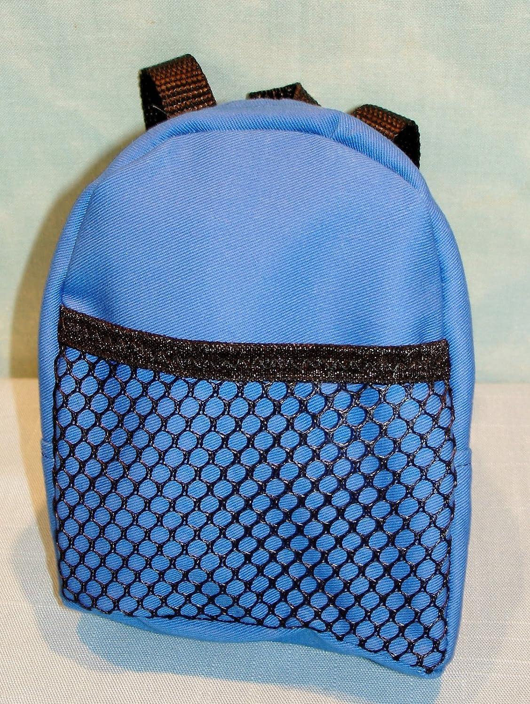 18 Inch Doll Blue Backpack handmade by Jane Ellen for 18 inch dolls