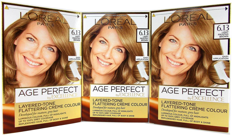 LOreal Excellence Age Perfect - Tinte para el pelo (6,13 cm ...
