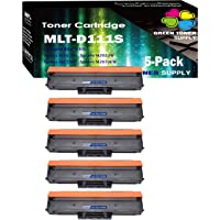 (Set of 5 Black) Compatible 111S 111L MLT-D111L MLT-D111S Toner Cartridge, for Used in Samsung Xpress M2020W M2022W M2070W M2070FW, Sold by GTS
