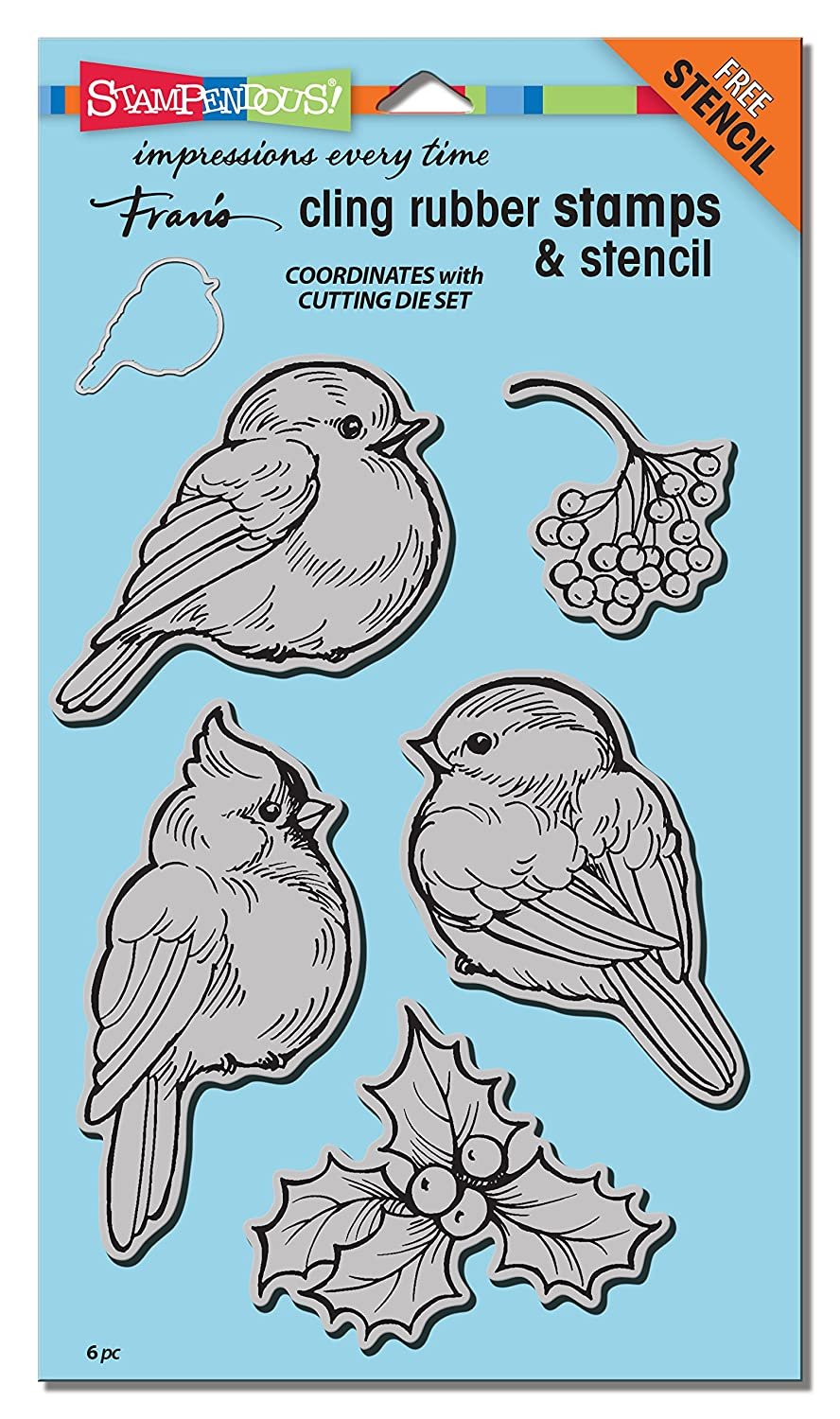 Amazon.com: STAMPENDOUS CRS5092 Cling Rubber Winter Tweets Stamp Set ...