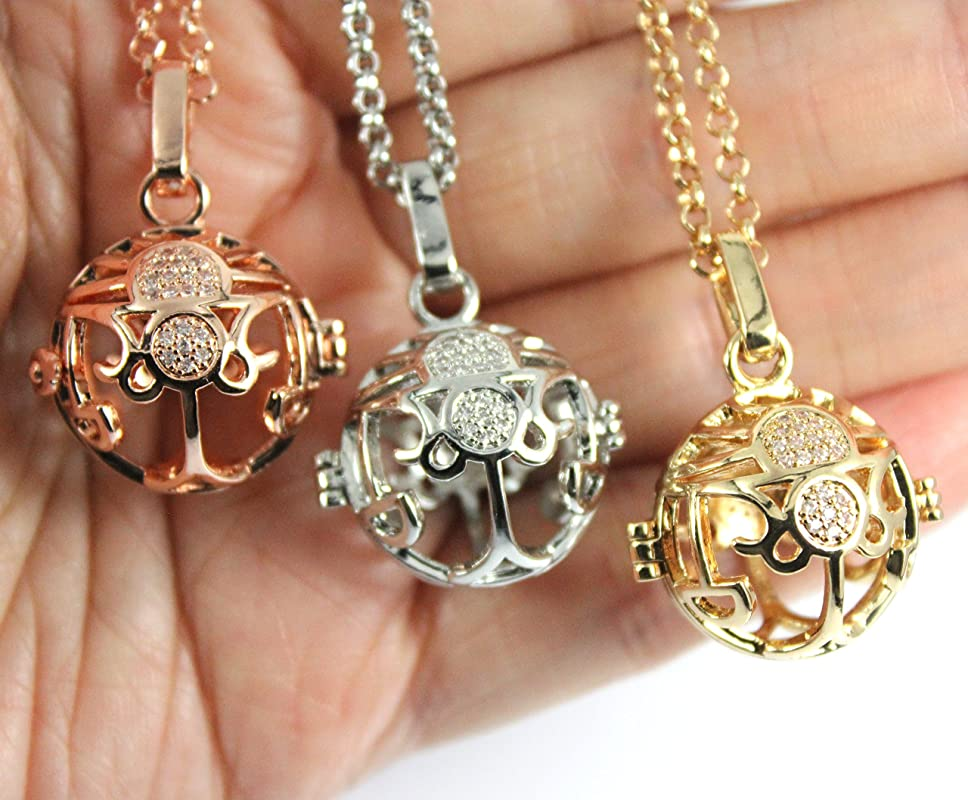 Memorial Jewellery Cremation necklace Cremation Jewelry Sparkles Zodiac Scorpio Locket with Fillable Glass Orb Memorial Locket