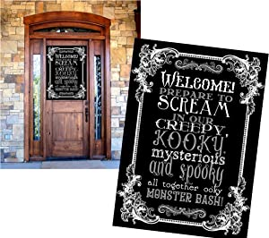Monster Mash Party Supply and Wall Art Decor (Welcome Decor)