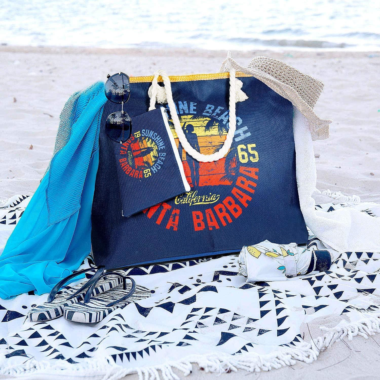 LADIES LARGE BEACH BAG Summer Tote Lightweight Shoulder Handbag Travel Holidays