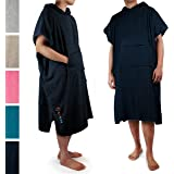 SUN CUBE Surf Poncho Changing Robe with Hood |Terry Cotton Changing Towel