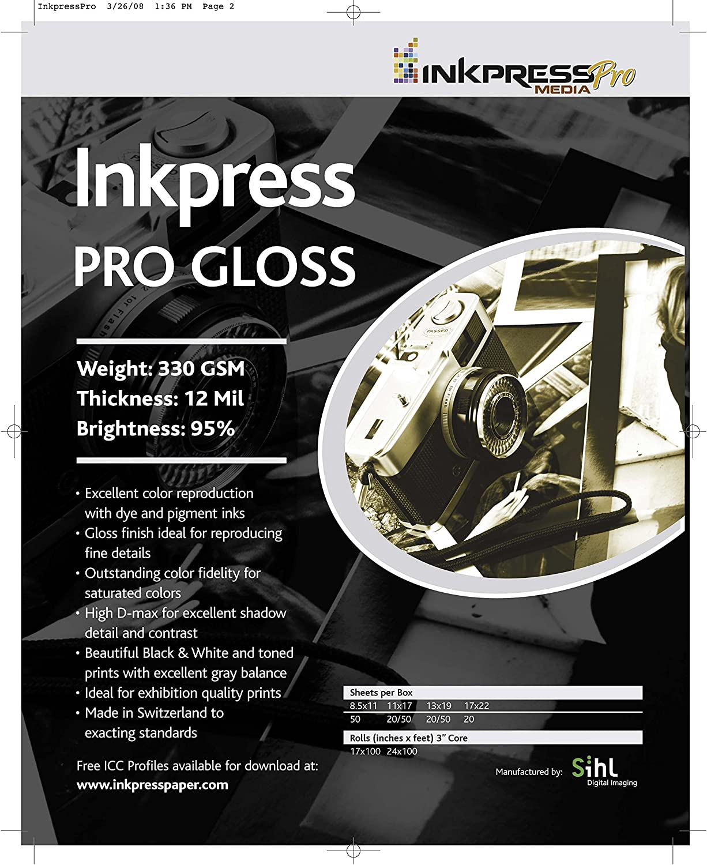 "SIHL Inkjet Printable White Vinyl GLOSS 5 Sheets 8.5/""x11/"" Waterproof"