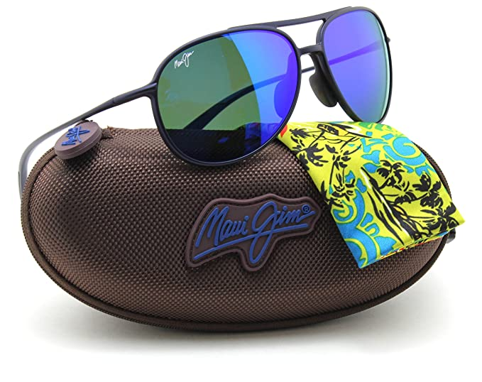 cffcc31d25ac Maui Jim B438-03M ALELELE BRIDGE Polarized Sunglasses Blue Hawaii Lens   Amazon.co.uk  Clothing