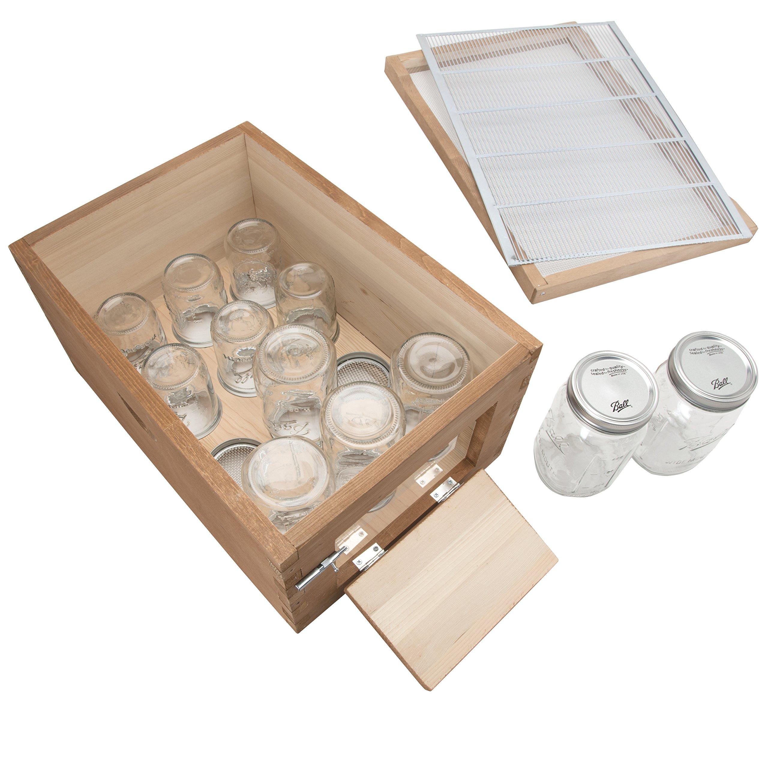 SummerHawk Ranch Jar Super 3-YEAR Warranty, with Innovative Honey Harvesting System, Storing Honey directly in Mason Jars, Backyard Bee Hive Extension, Beekeeping Equipment