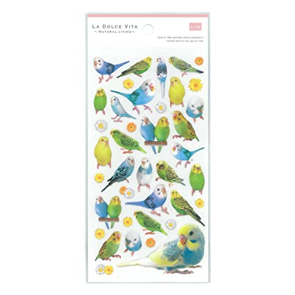 Parrot Bird Sticker Papel Craft DIY agenda Deco Sello de ...