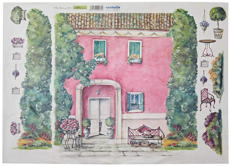 Renkalik renkalikqsipr083 35 x 50 cm Villa Rosa Seda impresión ...