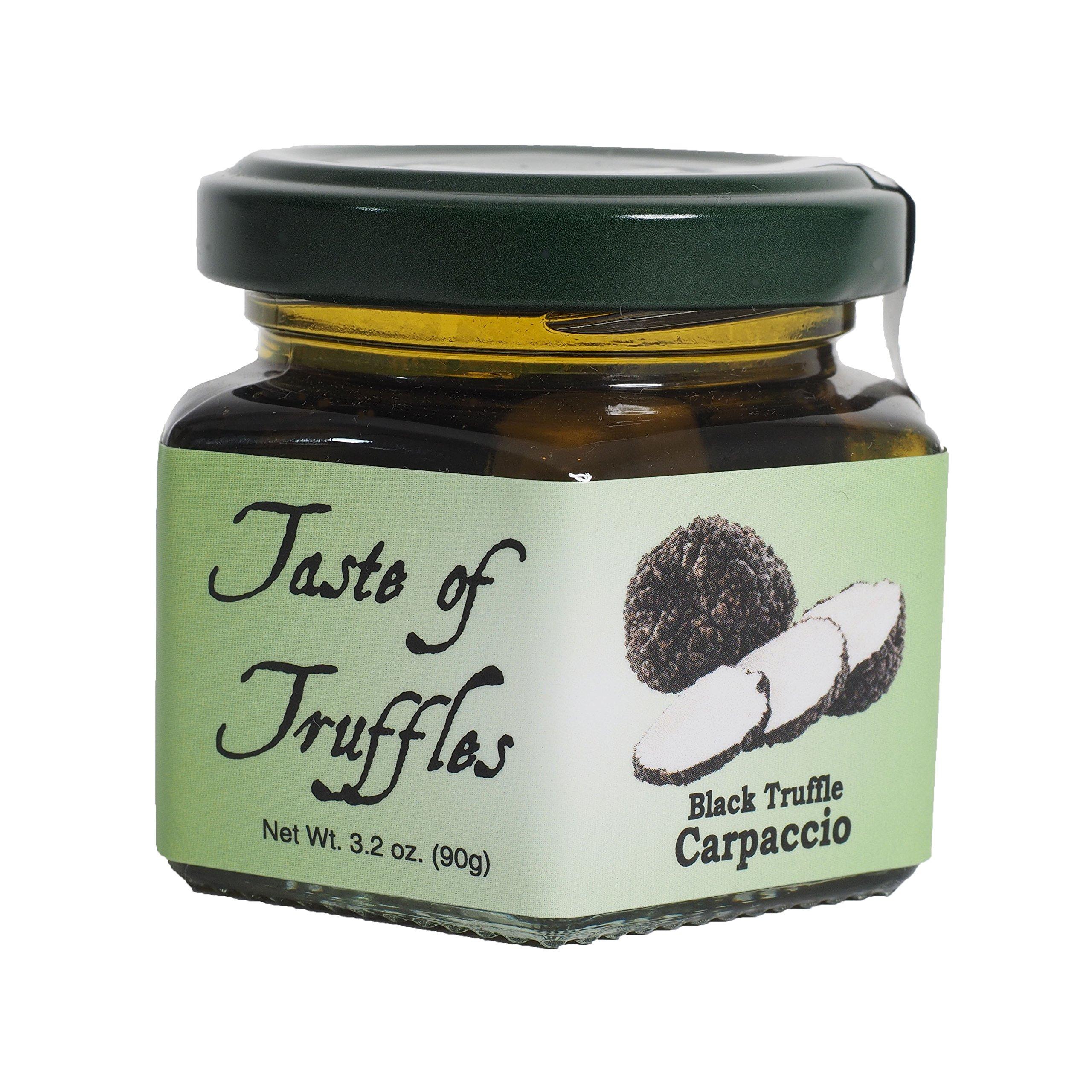 Black Truffle Carpaccio | Sliced Truffles | wt.3.2 oz