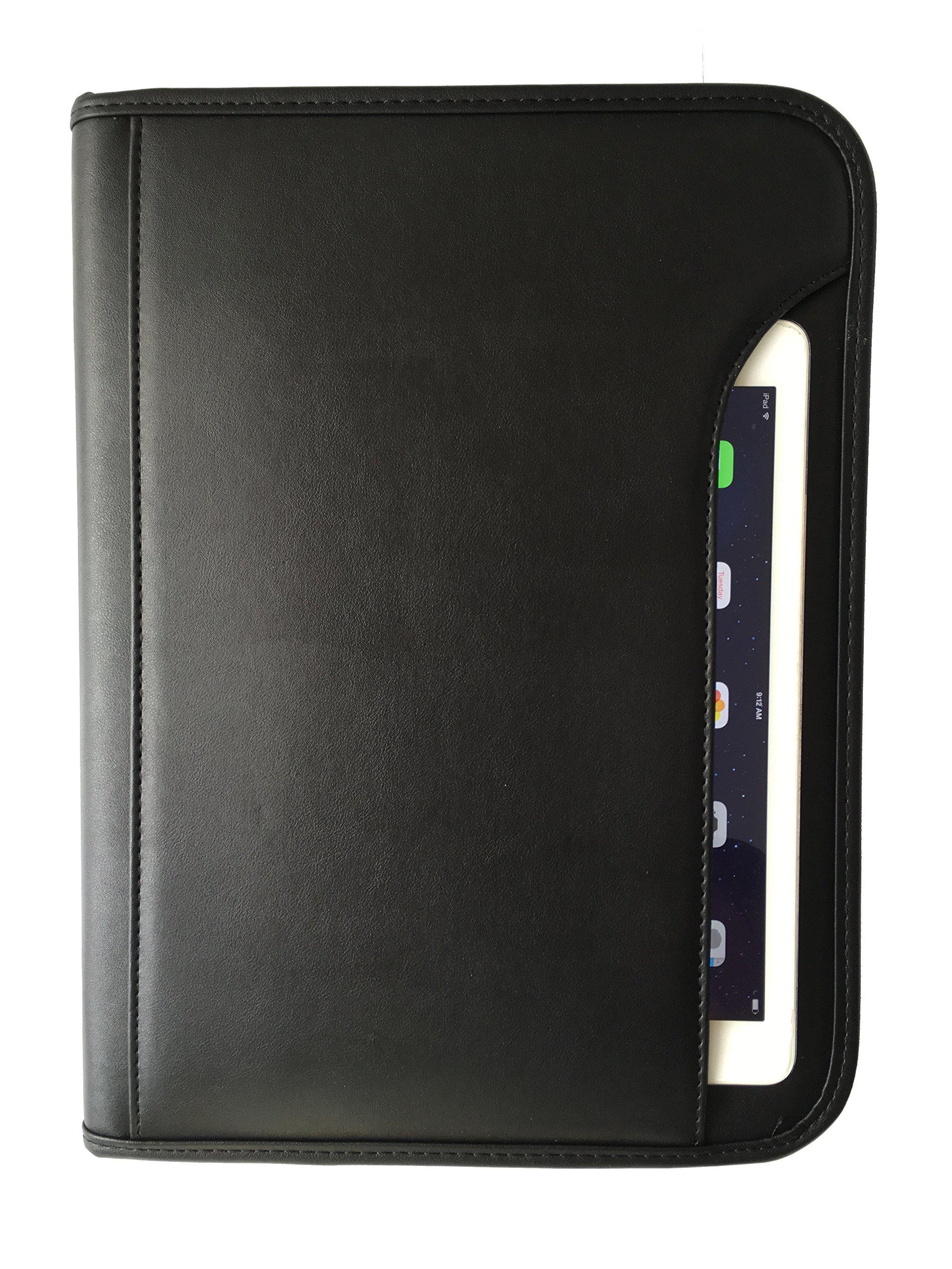 ImpecGear Padfolio Zippered Portfolio Interior 10.1 Inch Tablet Sleeve, Organizer Document Holder W/ Notepad & Pen Slot, Calculator (10'' x 13.5'' x 1.5'') by ImpecGear (Image #1)