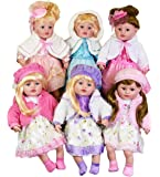 "Large 24"" Soft Bodied Christmas Party Fashion Doll Baby Girl with Festive Dress Outfit"