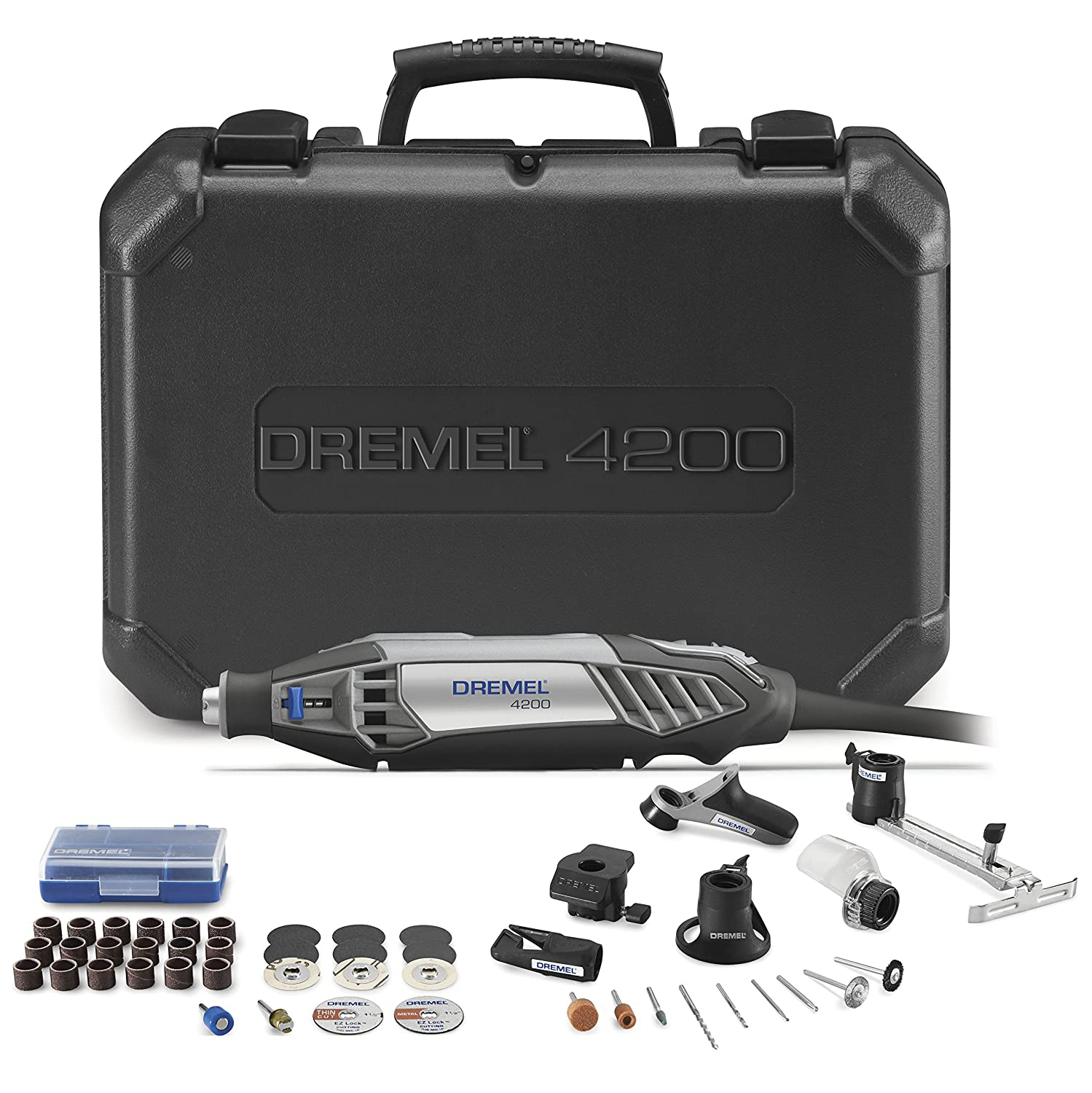 Dremel 4200-6 40 High Performance Rotary Tool with EZ Change, 47-Piece Kit