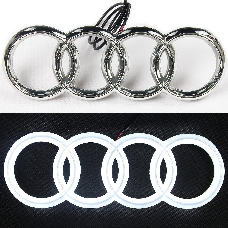 lumi/ères DRL Feux de Jour Blanc/ /disque Jetstyle LED Embl/ème voyant de bagues Auto Logo lumineux /à lavant de voiture grille badge