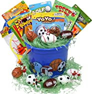 Sports Themed Easter Basket Baseball Basketball Soccer
