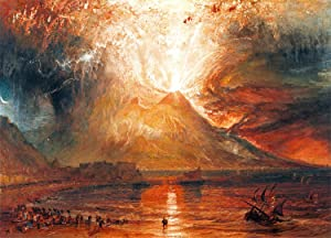 Canvas Print Wall Art - Eruption of Vesuvius - by Joseph Mallord William Turner - 20