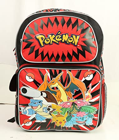 POKEMON Kids Schoolbag  Boy/'s Large Backpack Insulated Lunch Bag Pencil Case LOT