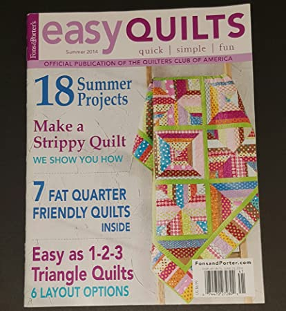 Buy 3 Get One Free Fons /& Porter/'s Easy Quilts Magazine Back Issues