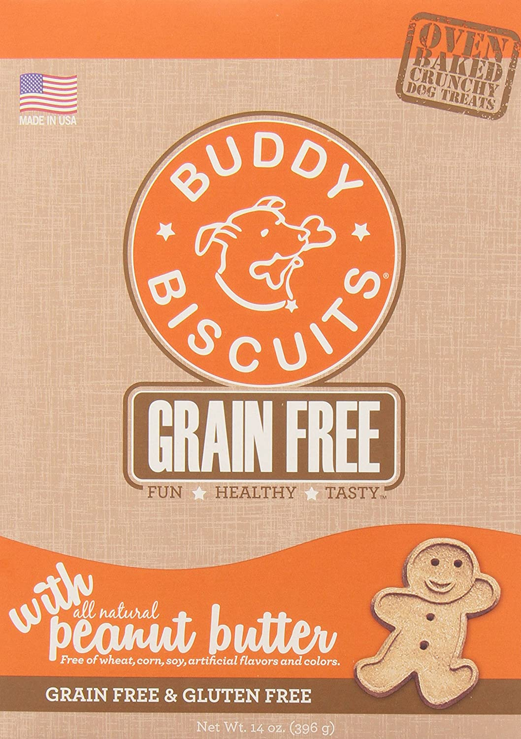 Buddy Biscuits, Oven-Baked, Grain-Free Crunchy Treats for Dogs