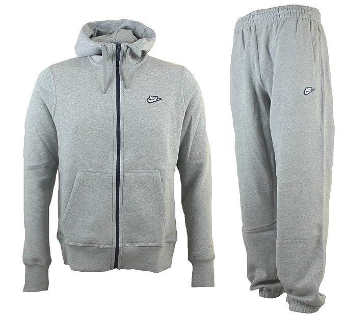 Nike Fleece Full Zip Hoody Kapuzenjacke Grau 532631 063
