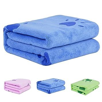 Legendog Toallas Baño, Toallas de Baño, Azul Toallas Baño, Toalla Microfibra Ultra Absorbente