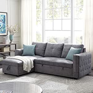 Amazon.com Merax Couch, L Shaped Sofa for Living Room ...