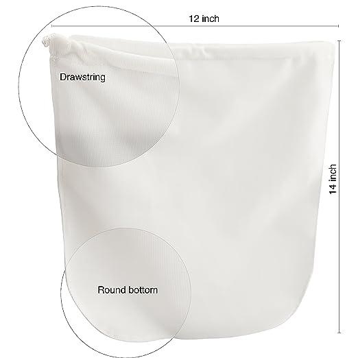Paquete de 2 bolsas de algodón premium para leche y malla de ...