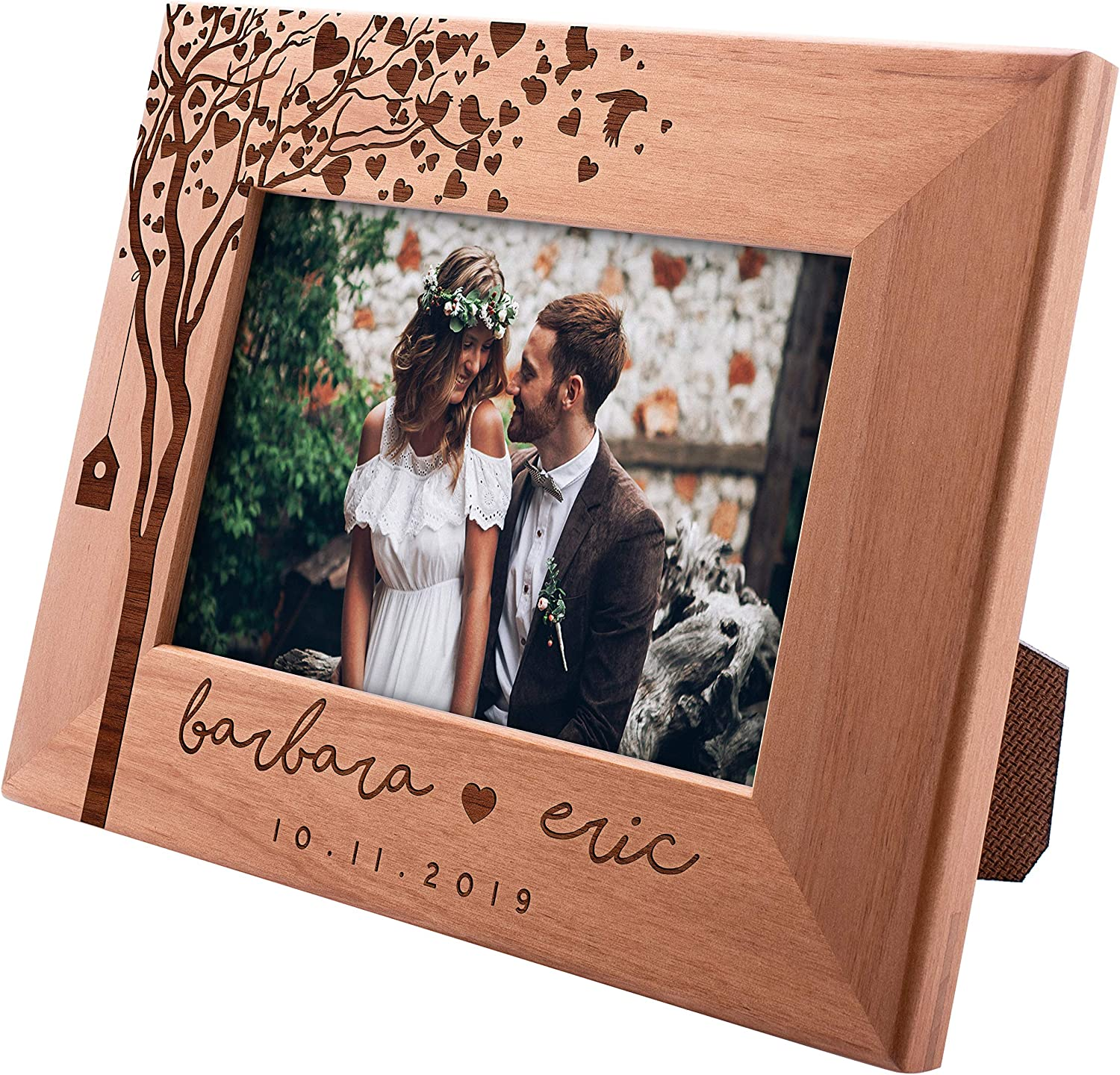 Amazon Com Be Burgundy Personalized Wedding Picture Frame 4x6 You And Me Romantic Wedding Gifts For The Couple Custom Wedding Photo Frame Anniversary Engagement Valentine S Day Mr Mrs Gifts