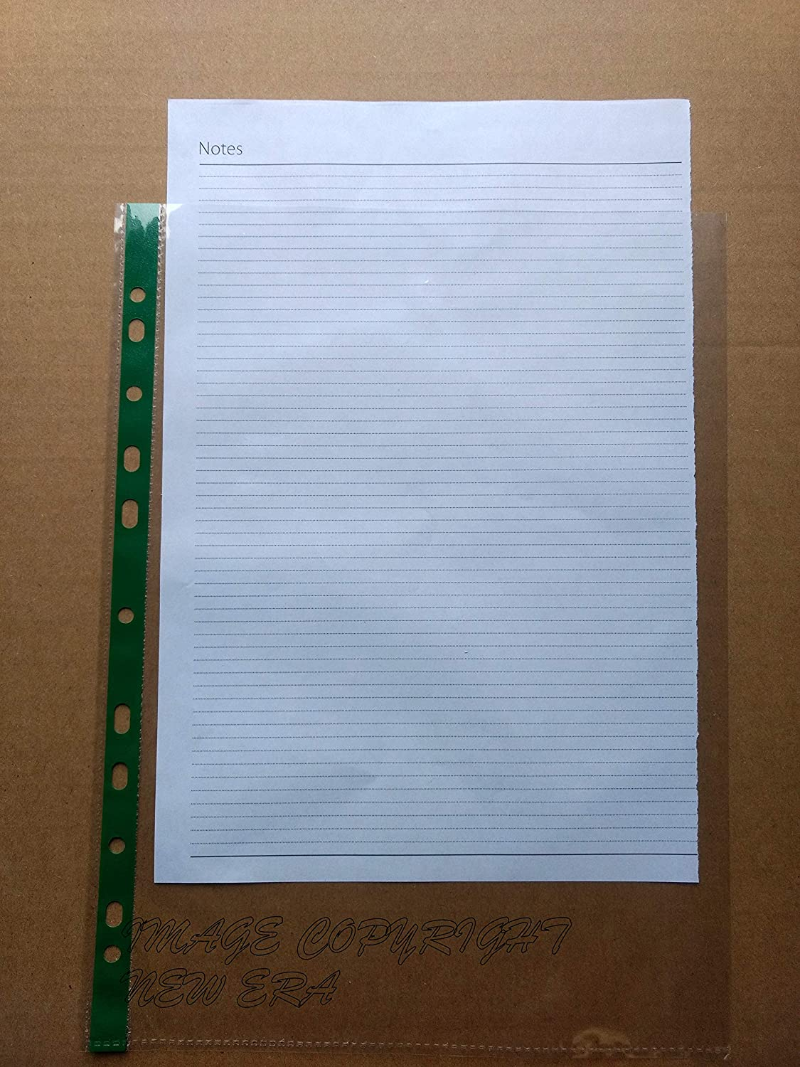 Just Stationery 20 Clear Plastic Punched Pocket
