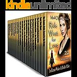 Mail Order Bride 22 Book Mega Box Set: 22 Brides Ride West for Love: Clean Western Historical Romance