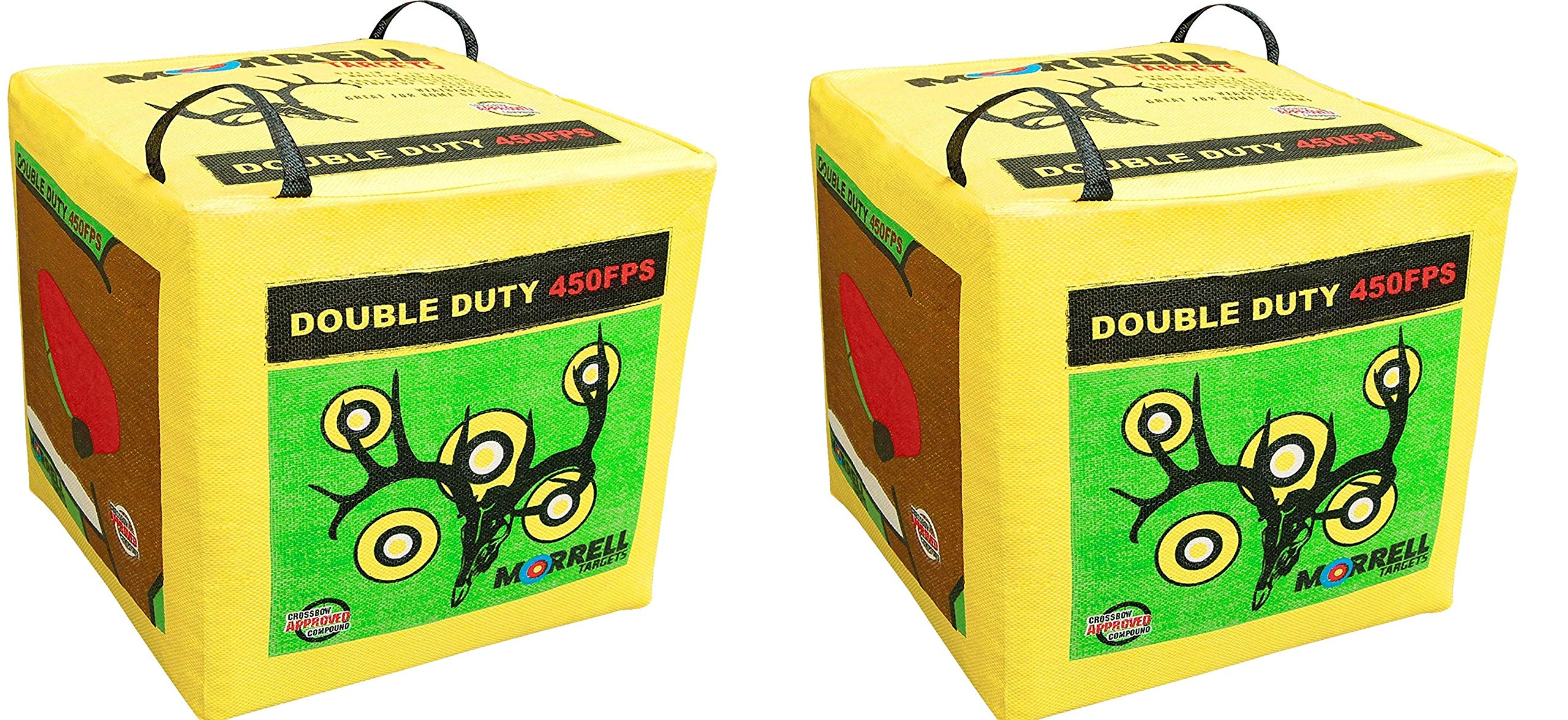 Morrell Double Duty 450FPS Field Point Bag Archery Target - for Crossbows, Compounds, Traditional Bows and Airbows (2-Pack)