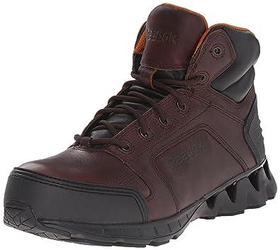Reebok Work Men's Zigkick RB7005 Work Shoe, Brown, ...
