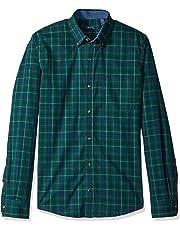 78bd31415628 IZOD Men's Slim Fit Heritage Long Sleeve Button Down Tartan Shirt