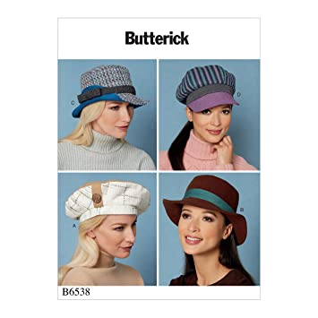 Butterick Patterns 6538 OS Schnittmuster Hat Schnittmuster, Tissue ...
