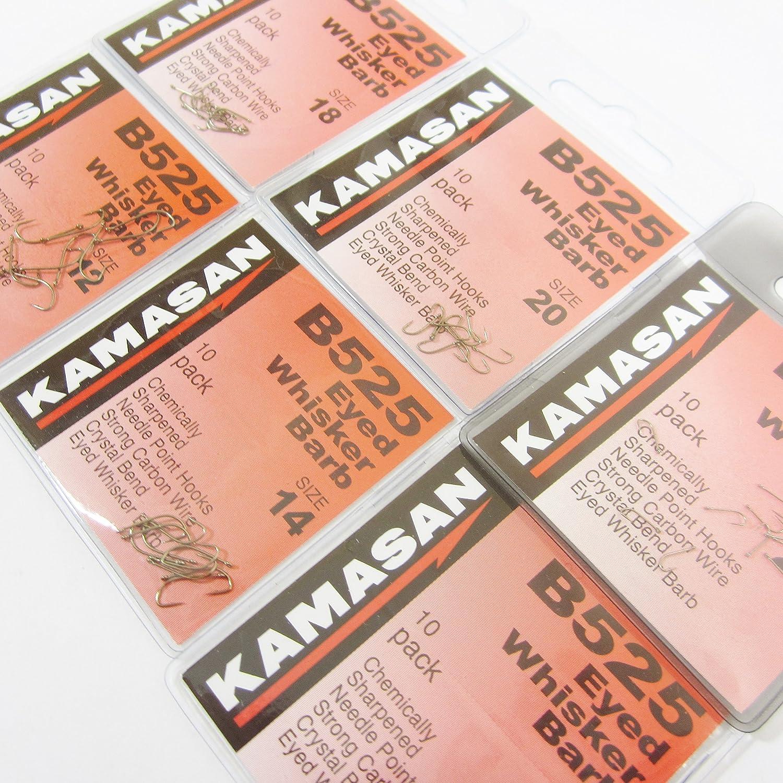 Kamasan B525 Eyed Whisker Barb Hooks