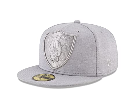 finest selection 21b73 4d5df New Era Oakland Raiders MEGA TONE Fitted 59Fifty NFL Hat - Gray (7)