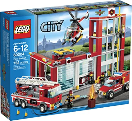 Amazon Com Lego City Fire Station 60004 Toys Games