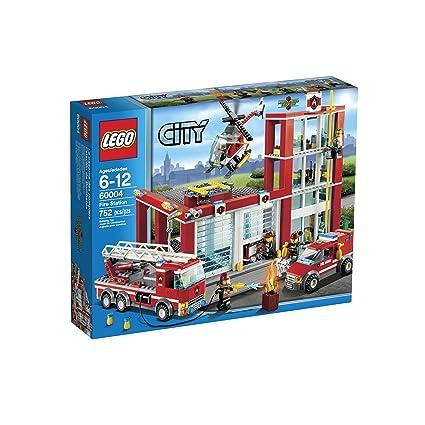 Amazon.com: LEGO City Fire Station 60004: Toys & Games