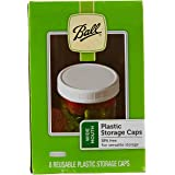 Ball Wide-Mouth Plastic Storage Caps, 8-Count