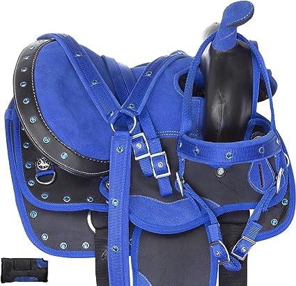 KIDS WESTERN SADDLE 12 13 USED PLEASURE HORSE TRAIL BARREL RACING PONY TACK SET