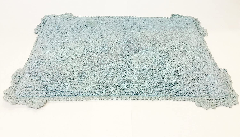 Bagno Shabby Chic Azzurro : Tappeto bagno scendiletto macrame shabby chic provenzale cm 50x80