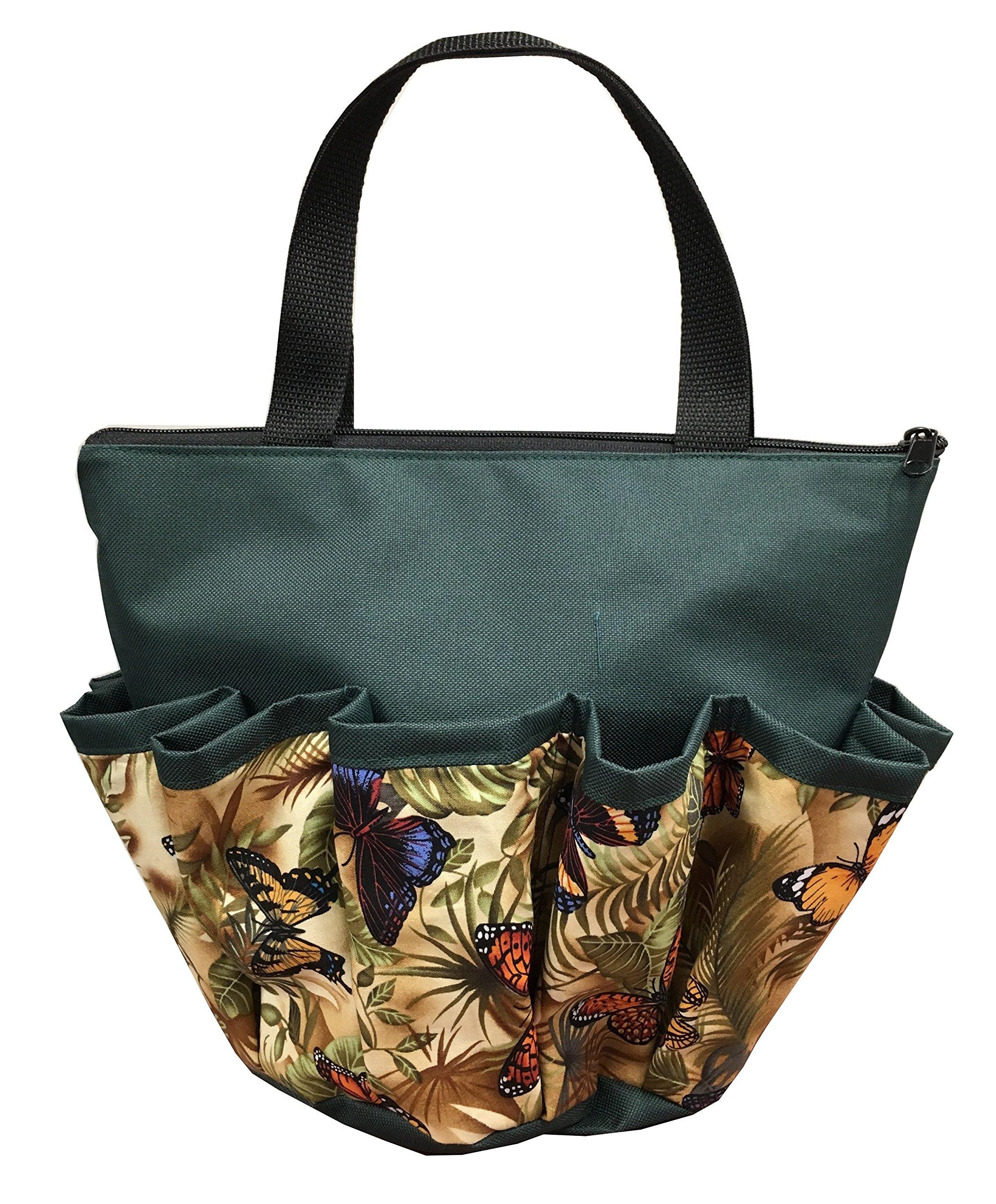 10 Pocket Butterflies Zipper Bingo Bag