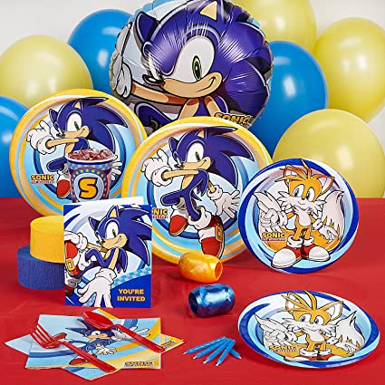 Amazon Com Birthdayexpress Sonic The Hedgehog Party Supplies Standard Party Pack For 16 Toys Games