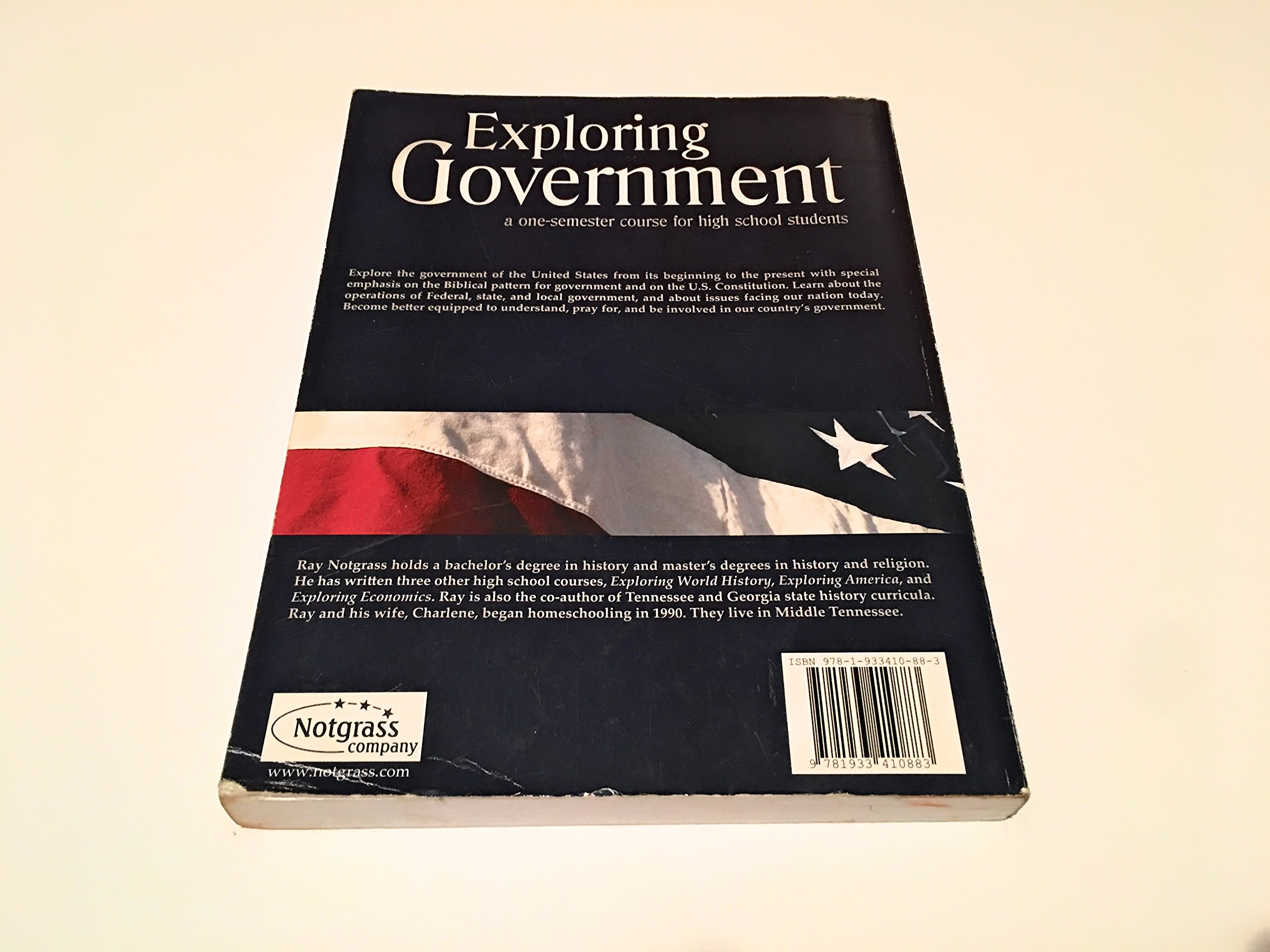 Exploring Government Student Text: Ray Notgrass: 9781933410883: Amazon.com:  Books