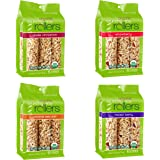 Crunchy Rollers - Organic Healthy Snacks - Variety Pack: Mix Berry, Apple Cinnamon, Caramel Sea Salt, Strawberry (4 Packs of 6)
